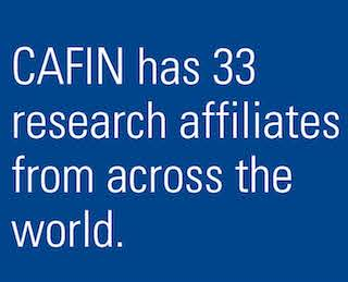 CAFIN has 33 research affiliates from across the world.